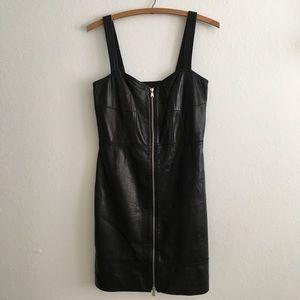 Marc Jacobs Lambskin Bustier Mini Dress